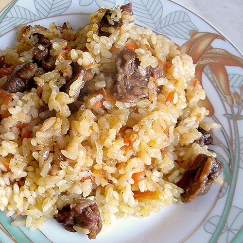 рецепт приготовления плова из курицы в казане пошагово