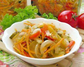 рецепт салата анкл бенс из кабачков моркови