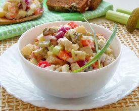 рецепт салата с курицей и ананасами чесноком