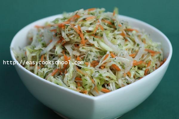рецепты салатов с фото простые и вкусные с растительным маслом