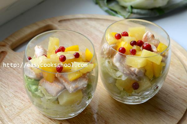 salat s kuritzej