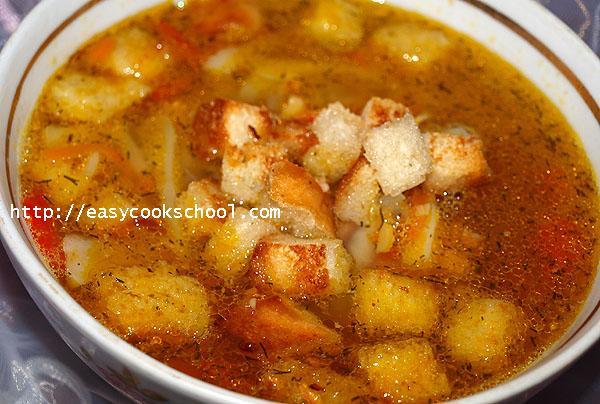 суп с копчеными ребрышками и горохом рецепт