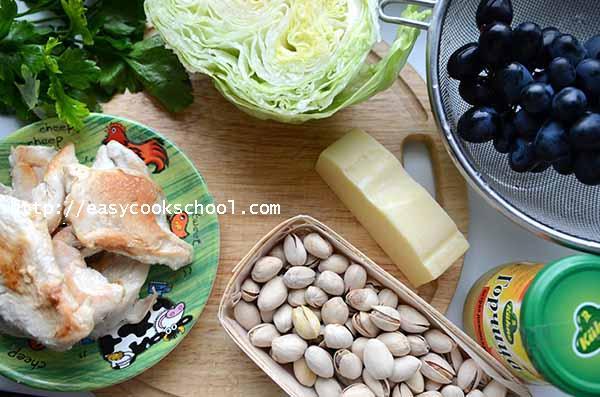 Как приготовить салат «Виноградная гроздь»