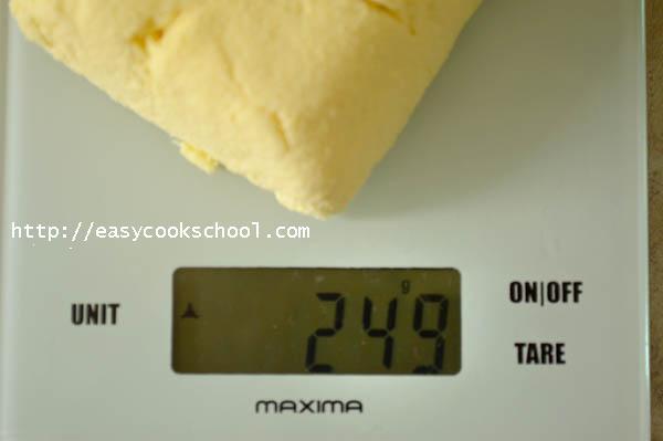 всего получилось 249 г домашнего сыра