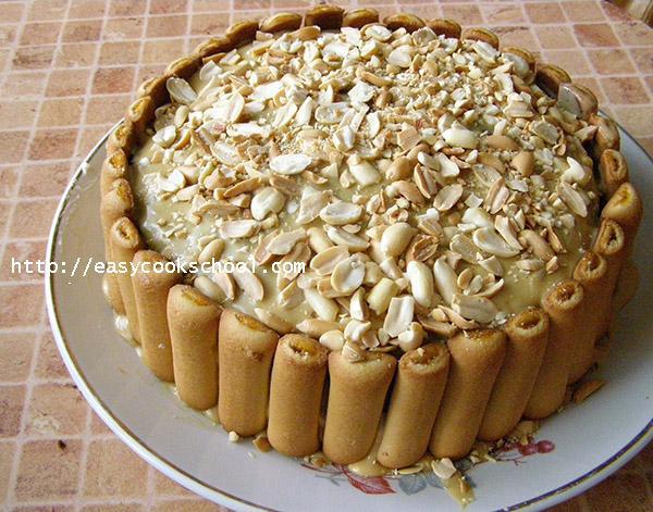 Торт-сникерс с арахисом