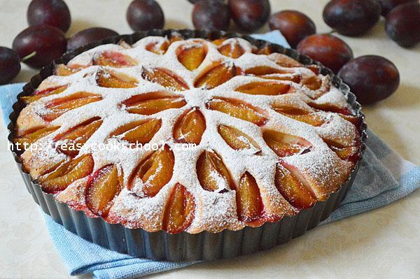 Пирог со сливой: быстрый, вкусный рецепт, Легкие рецепты