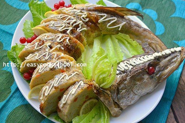 щука фаршированная с гречкой в духовке рецепты с фото