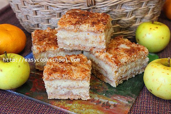 Насыпной яблочный пирог в духовке фото рецепт