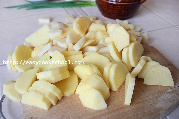 запеканка картошка укроп