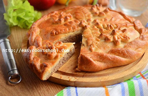 Яблочный пирог в духовке, пошаговый рецепт с фото