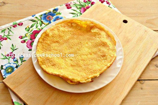 Яичные блины для салата рецепт с фото