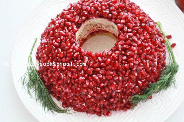 Гранатовый браслет салат