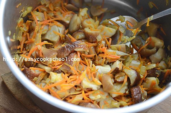 рецепт блюда из замороженных грибов