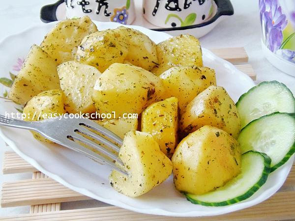 как приготовить запеченный картофель в микроволновке