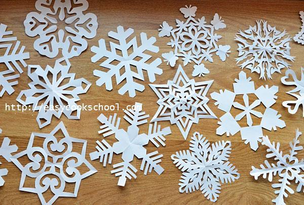 Снежинки на новый год своими руками 2015