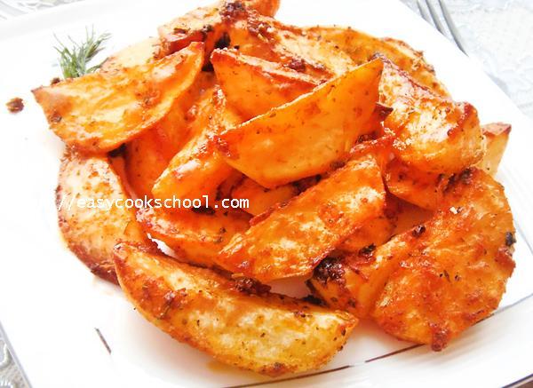 Картошка с золотистой корочкой в духовке рецепт 8