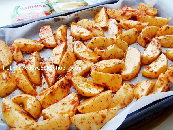 хрустящая картошка в духовке рецепт с фото