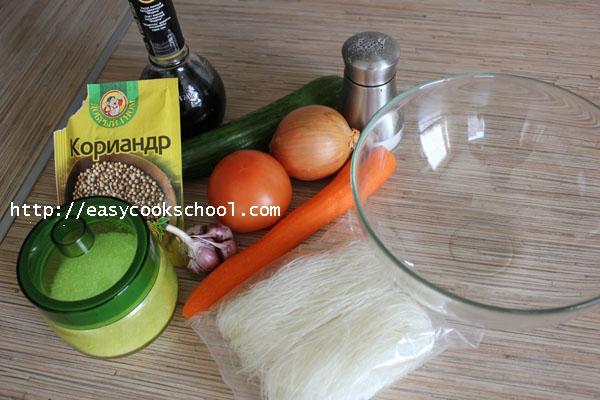 фунчоза по корейски рецепт с видео и пошаговым приготовлением